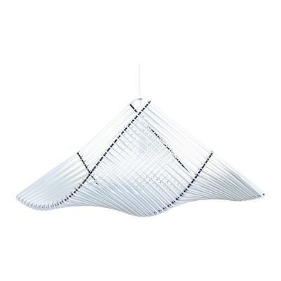 Exkluzív függesztett mennyezeti lámpa, M-es méretű, ívelt, fehér   - PIGEON